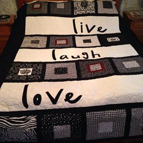 Live, laugh, Love Quilt July2015