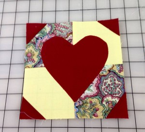 Happy Valentines Day pieced by Liz Dempsey